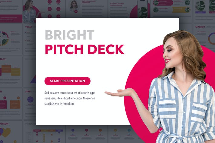Thumbnail for Bright Pitch Deck Keynote