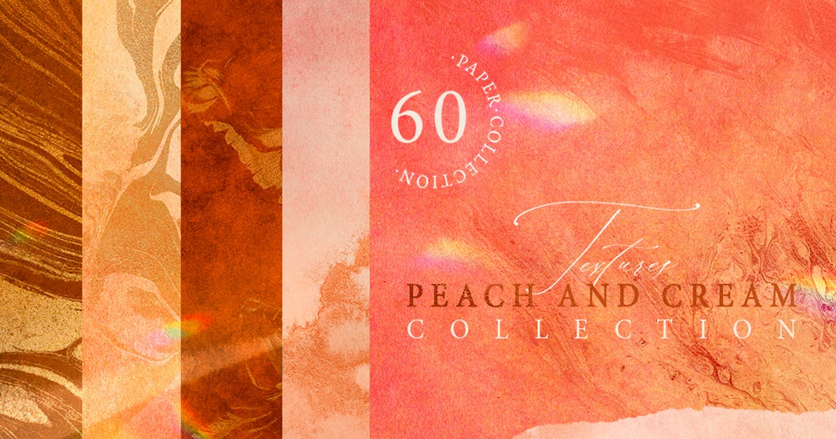 Download 60 Peach and Cream Textures by NassyArt