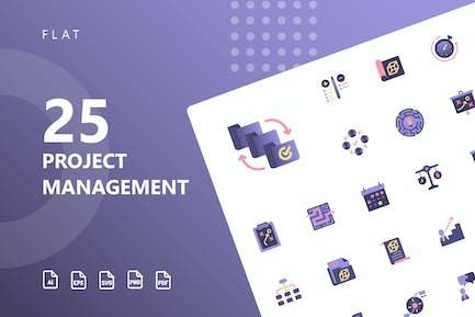 Project Management Flat Icons