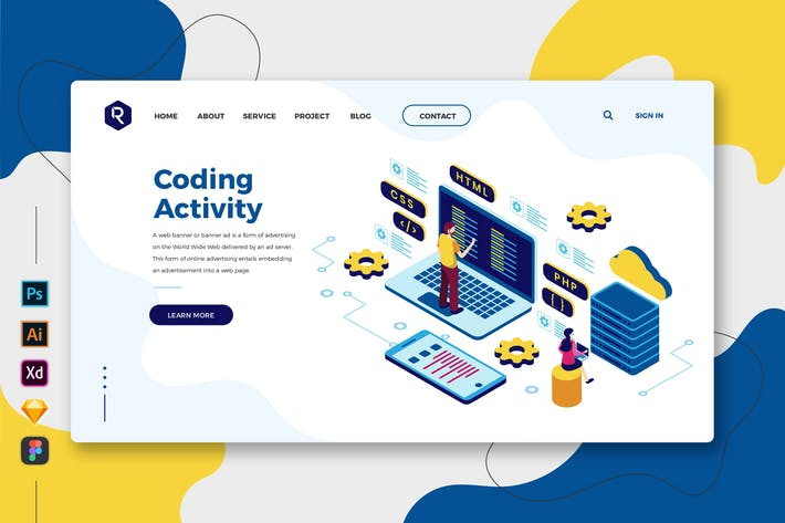 Thumbnail for Coding Activity - Web & Mobile Landing Page