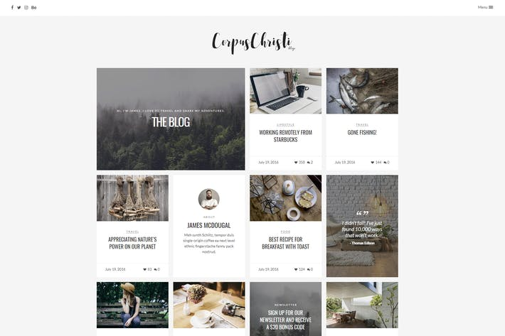 Thumbnail for CorpusChristi - Modern Blog WordPress Thema