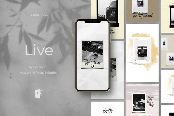 Thumbnail for Live Powerpoint Instagram Posts & Stories
