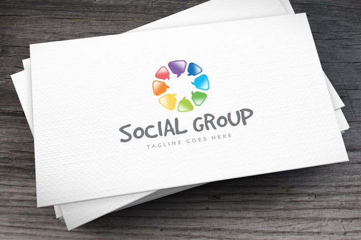 Thumbnail for Social Group Logo Template