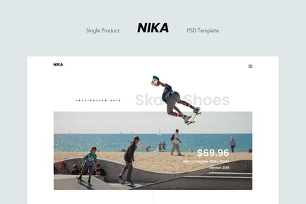 Nika - Single Product Landing Page
