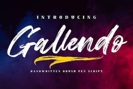 Gallendo Brush Script LS