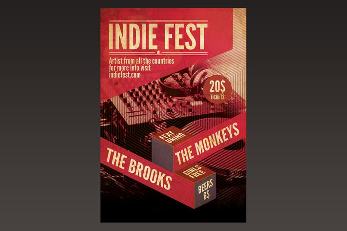 Thumbnail for Indie Fest Flyer Poster
