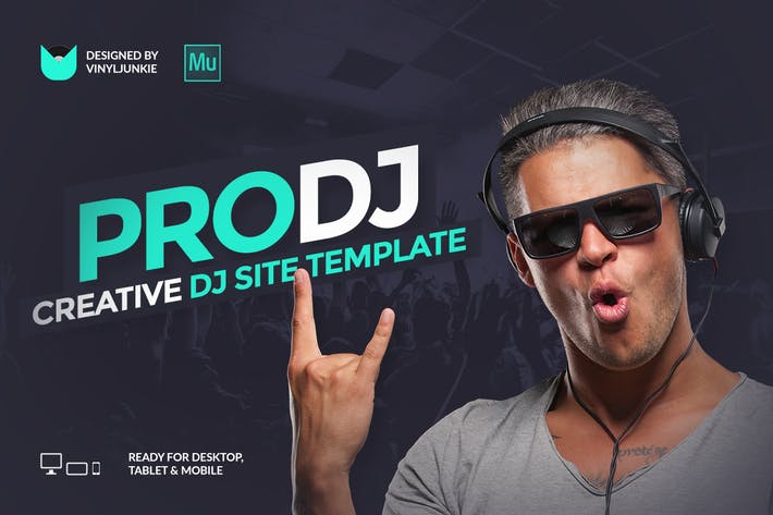 Thumbnail for ProDJ - Plantilla Creativo para DJ/Productor Site Muse