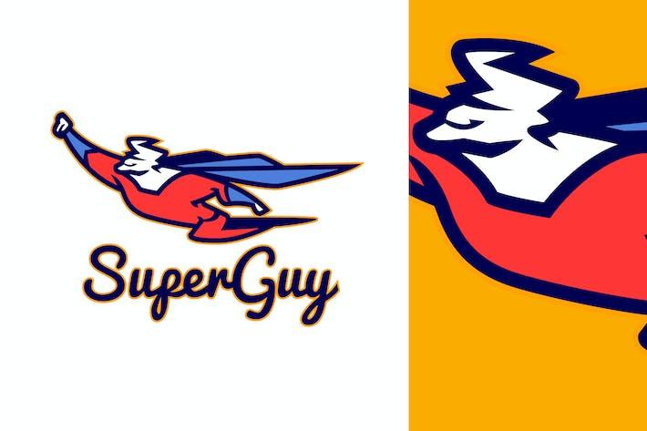 Thumbnail for Flying Superhero Mascot Logo