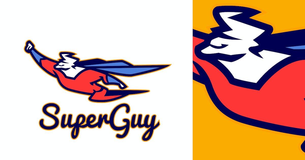 Download Flying Superhero Mascot Logo by Suhandi