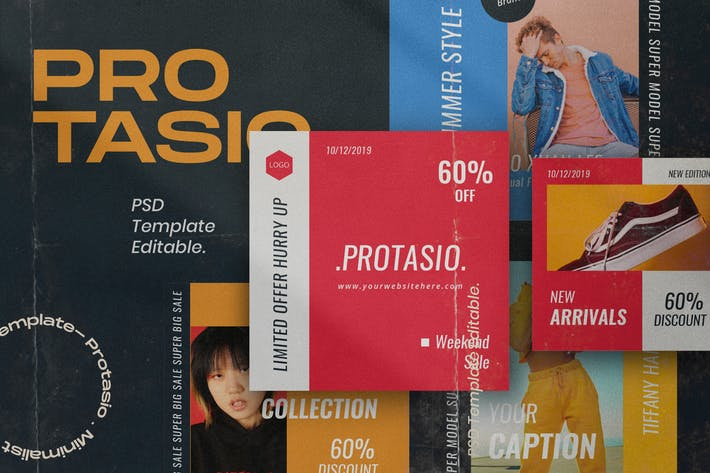 Protasio Fashion Instagram Social Media Pack 2