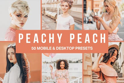 50 Peachy Peach Lightroom Presets and LUTs