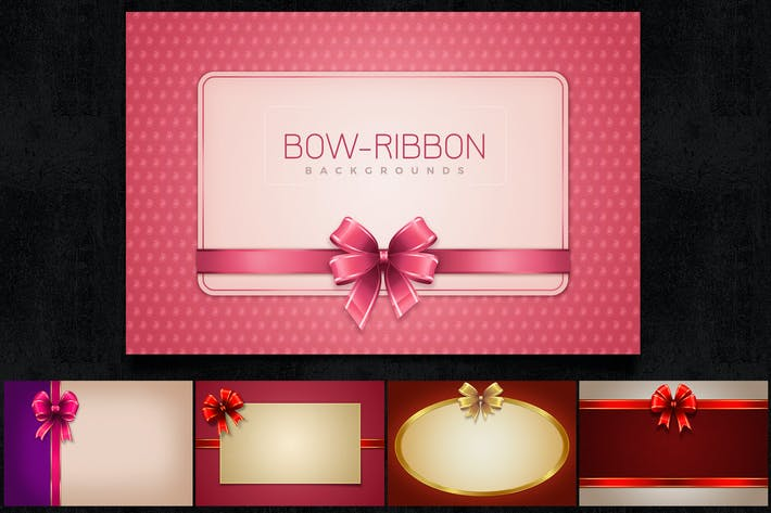 Bow Ribbon Backgrounds Col1