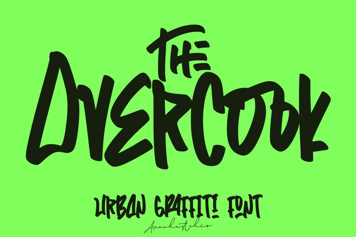 Thumbnail for El Overcook | Graffiti Font