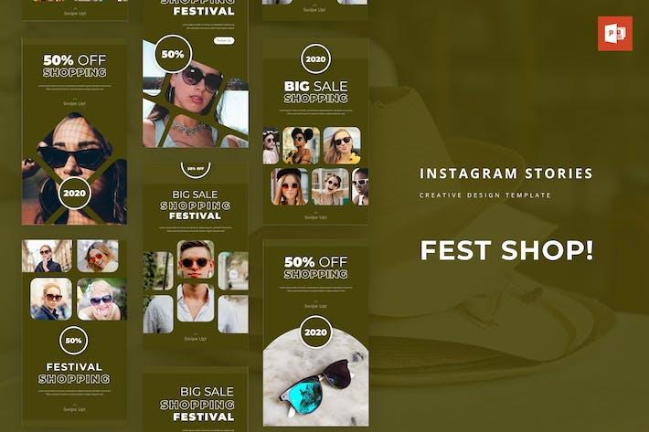 Fest Shop Instagram Story Powerpoint Template