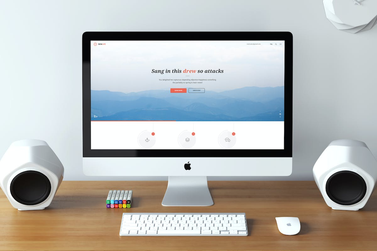 Download New Life PSD Template by raulvodov by Unknow