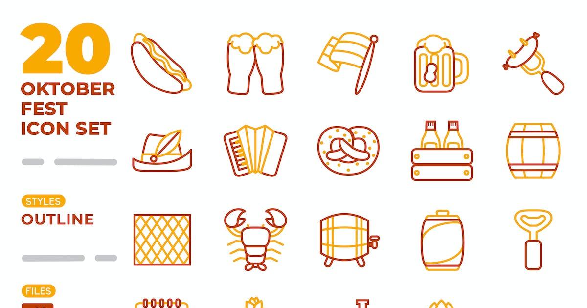 Download Oktoberfest Icon Set (Outline) by medzcreative