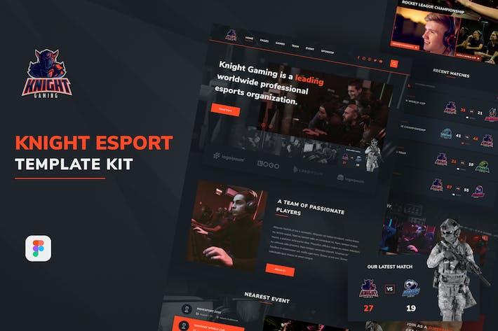 Thumbnail for Knight eSport Web UI Kit