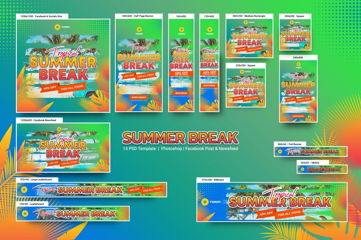 Thumbnail for Summer Break Banners Ad
