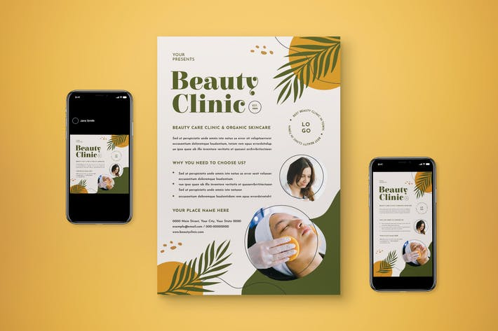 Beauty Clinic Flyer Set