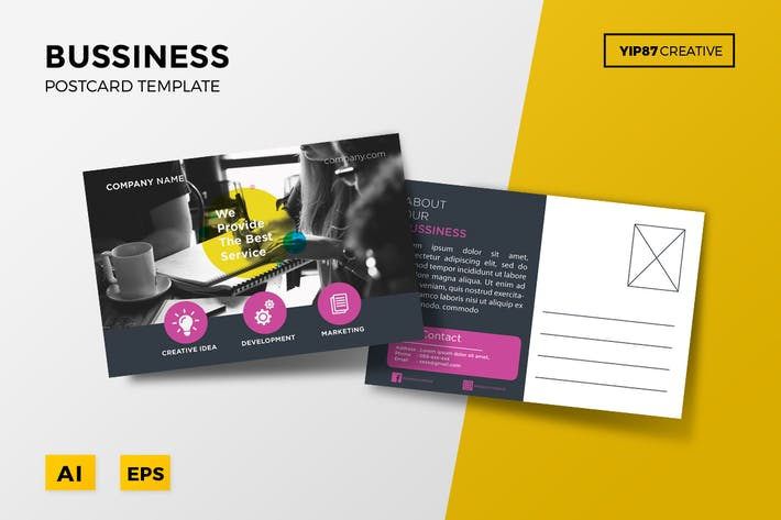 Business postcard by yip87 on envato elements cover image for business postcard accmission Choice Image