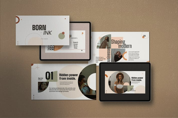 BORN - INK Creative Corporate Design Powerpoint