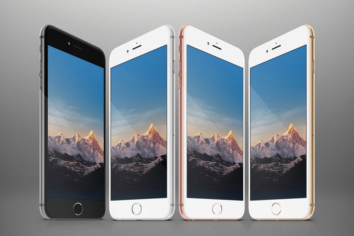 Thumbnail for Responsive Phones Mockups Pack