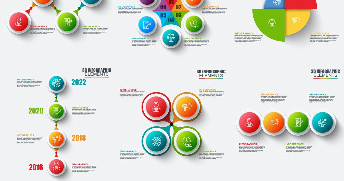 Download Abstract 3D Infographics by alexdndz
