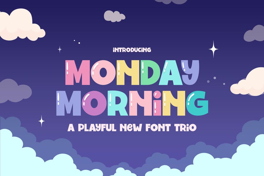 Monday Morning Font Trio
