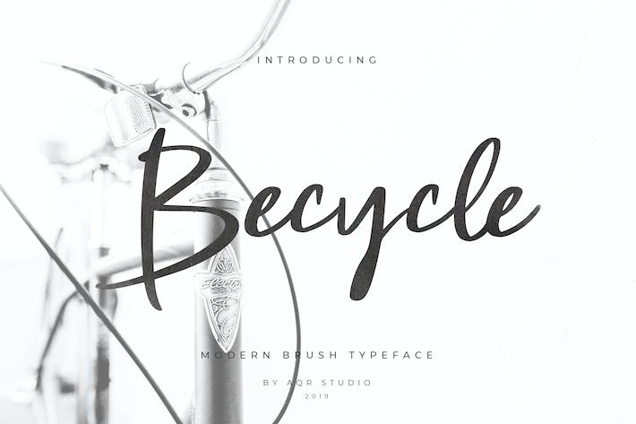 Thumbnail for Becycle Brush Font Script