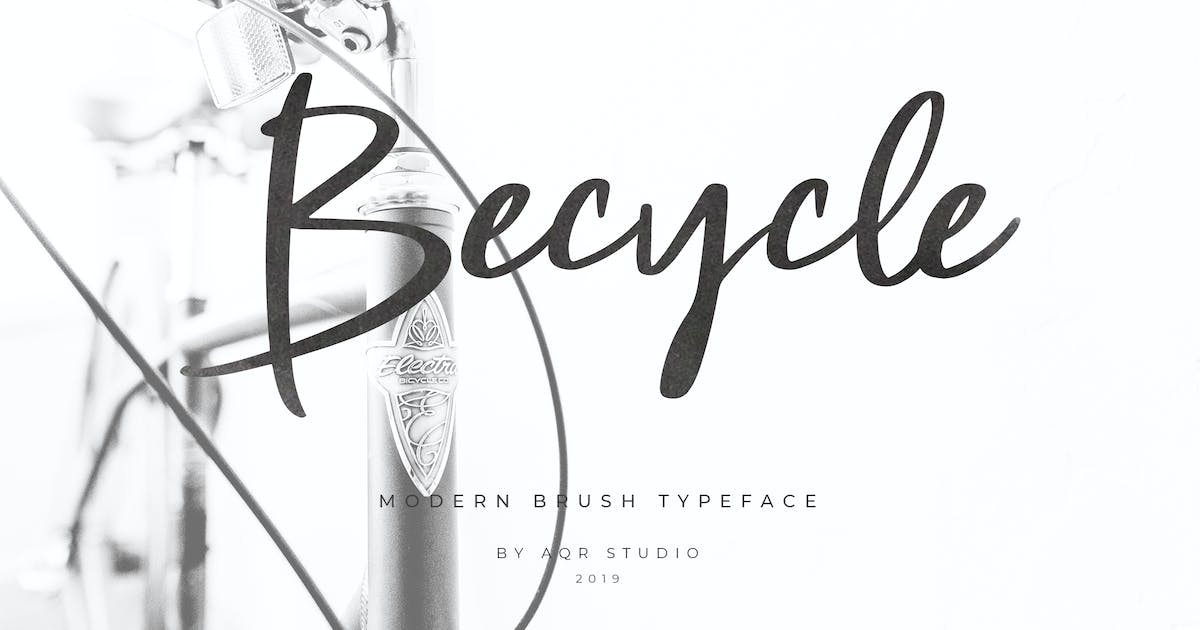 Download Becycle Brush Font Script by aqrstudio