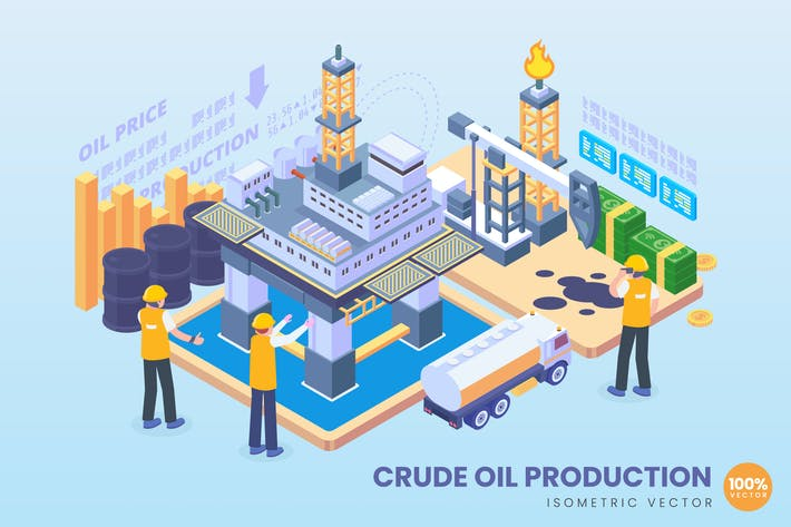 Thumbnail for Isometric Crude Oil Production Concept
