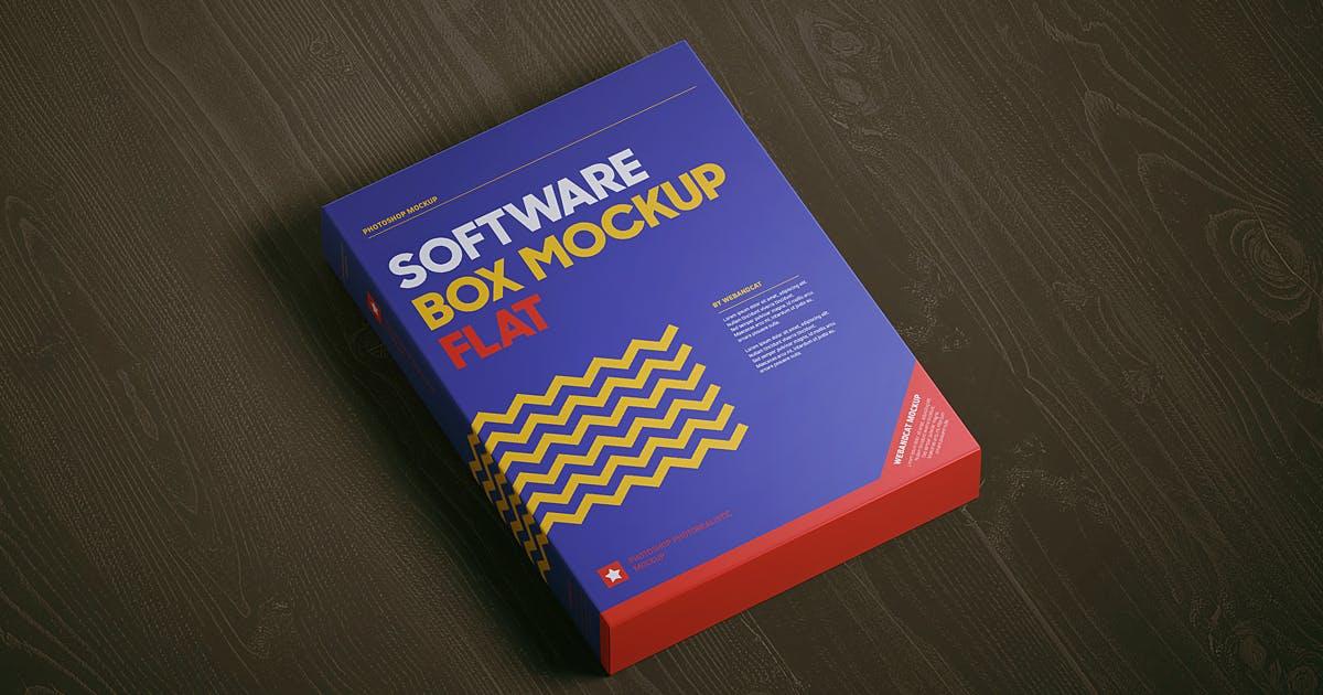 Software Box Mockup - Flat by webandcat