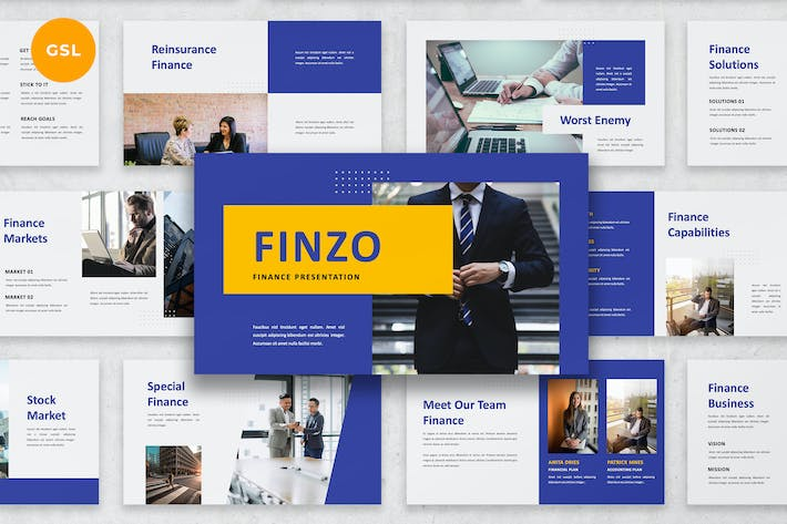 Thumbnail for Finzo - Finance Google Slides