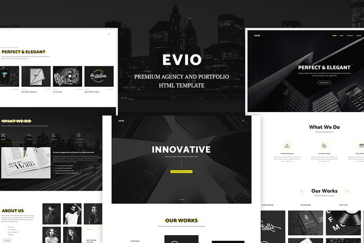 Thumbnail for Evio - Agency & Portfolio HTML Template