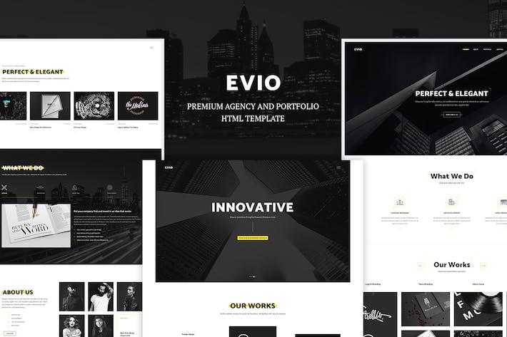Cover Image For Evio - Agency & Portfolio HTML Template