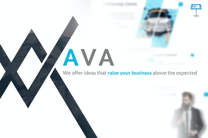 Thumbnail for Ava - Keynote Template