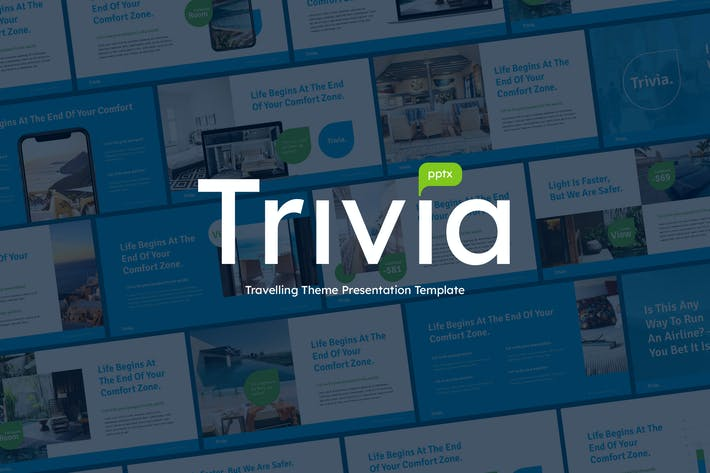 Thumbnail for TRIVIA - Travel Business Powerpoint-Vorlage