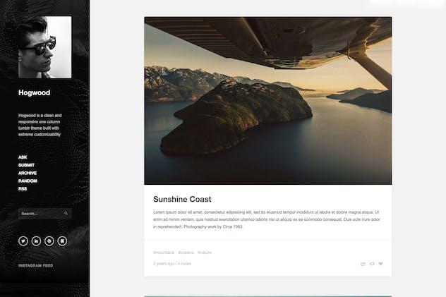 Hogwood - Responsive Content Focus Theme