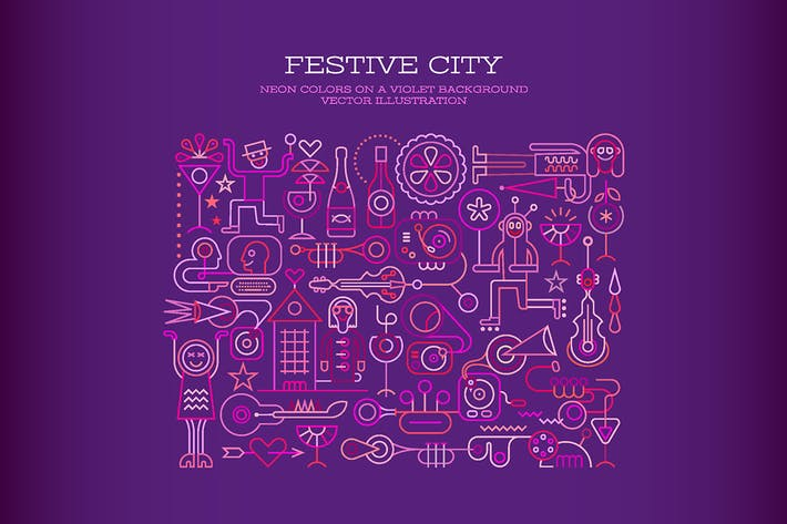 Thumbnail for Festive City vector illustration