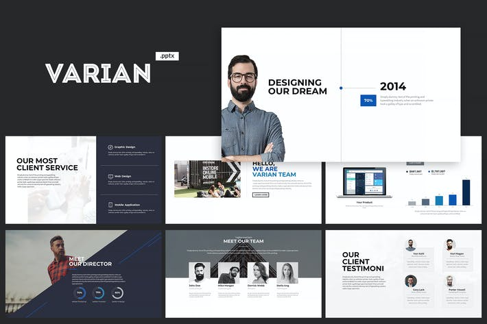 Thumbnail for Varian Powerpoint Template