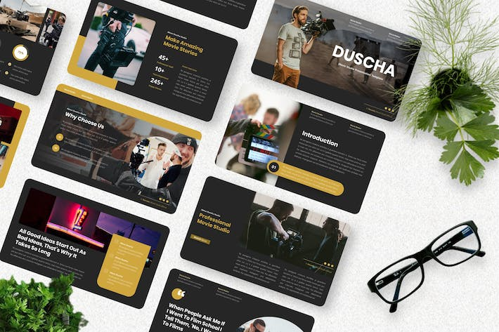 Thumbnail for Duscha - Movie Studio Powerpoint Template