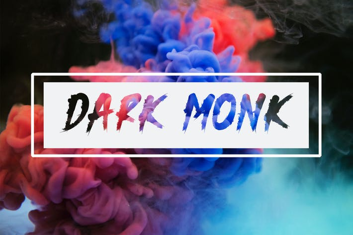 Thumbnail for DARK MONK - Brush Font HR