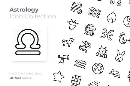 Astrology Outline Icon