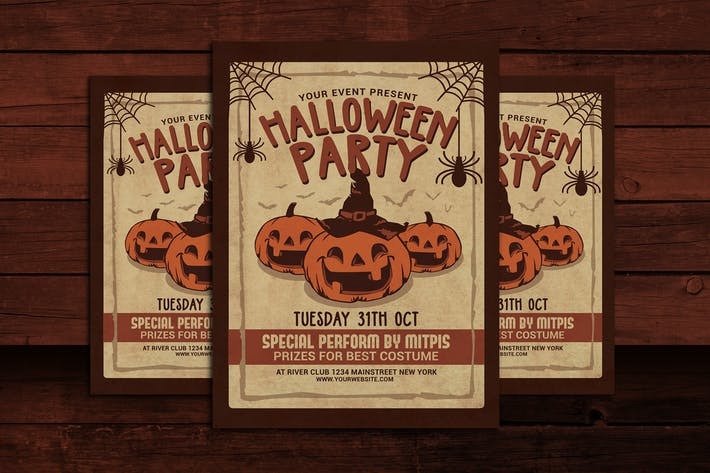 Thumbnail for Halloween Party Vintage Flyer
