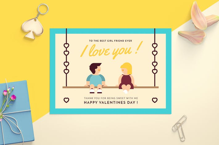 Thumbnail for Valentine's day card template