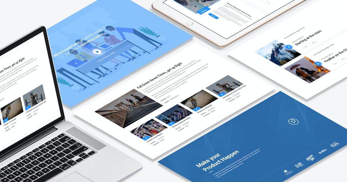 Download 8 Videos Widget design for Web-UI Kit by DigitalHeaps