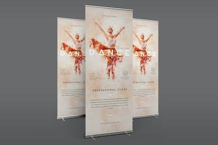 Ballet Dance Roll Up Banner