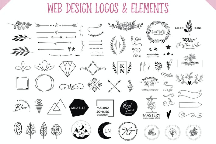 Web Design Elements & Logos