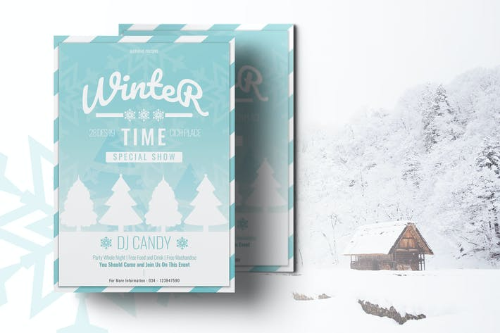 Thumbnail for Winter Flyer Template