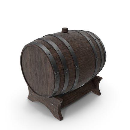 Деревянная подставка для бочек Орех Тем